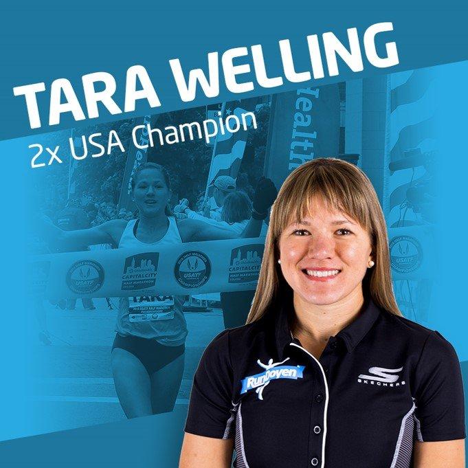 Running Coach Tara Welling Square Card