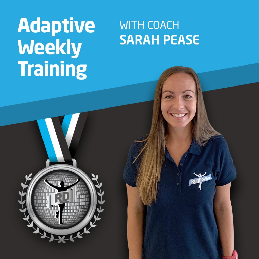Adaptive Weekly Training with Running Coach Sarah Pease