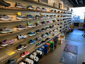 Marathon Running Shoes on a Wall
